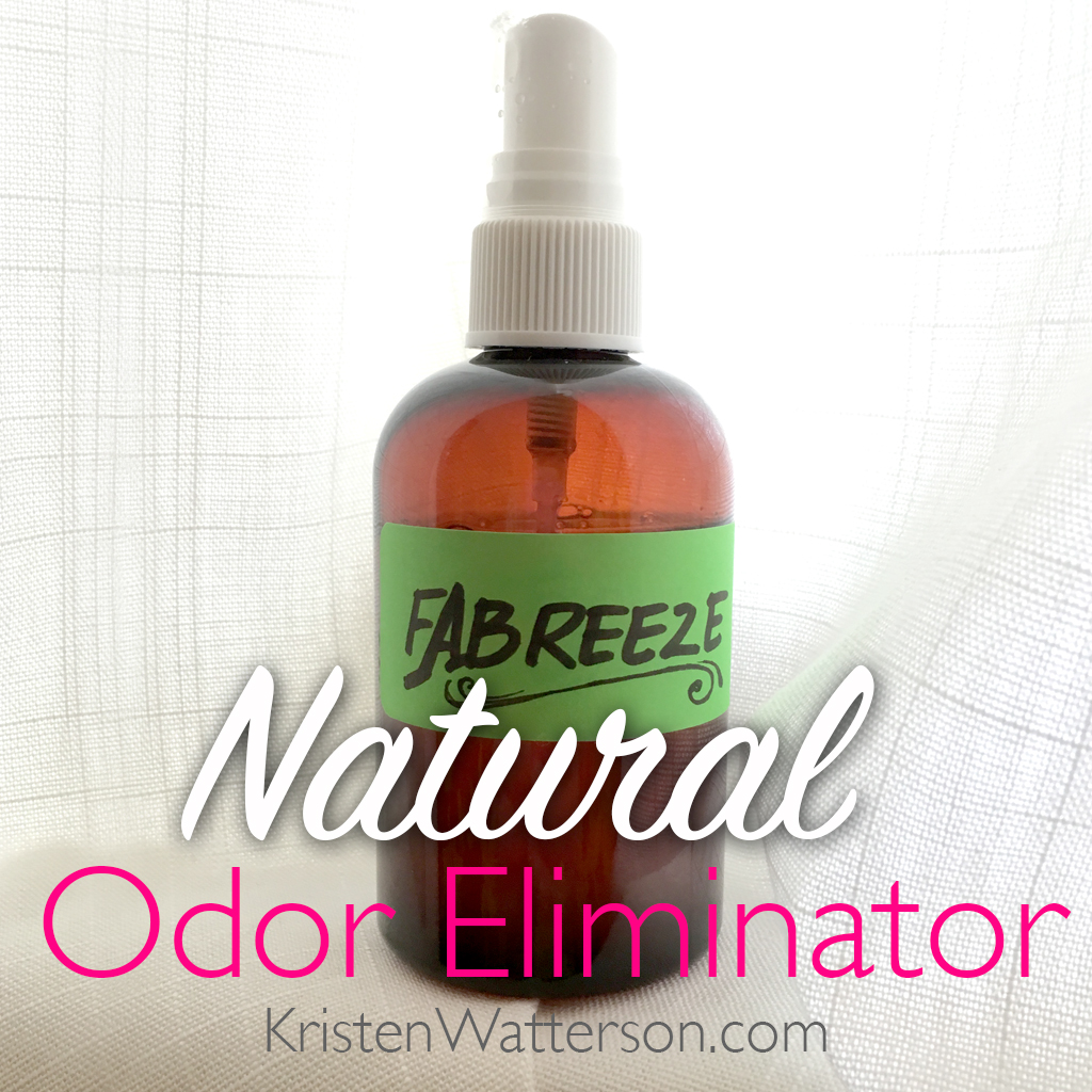 Create your own natural and chemical-free odor eliminator!  Find out how on KristenWatterson.com