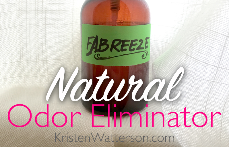 Make your own natural and chemical free odor eliminator! Find out how on KristenWatterson.com