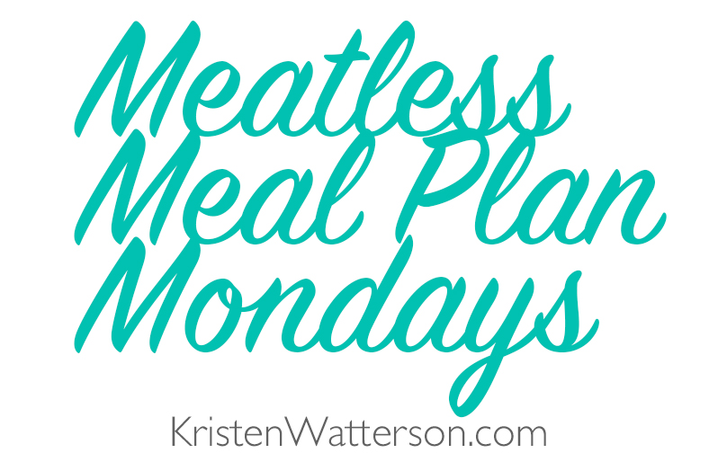 Meatless Meal Plan Mondays on KristenWatterson.com! A post with links to meatless meal ideas, all planned out for the week, plus grocery list!